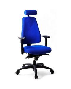 Kontorsstol LD6340 Deluxe blå u svankst