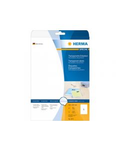 Etikett HERMA Transp 210x297mm 25/FP