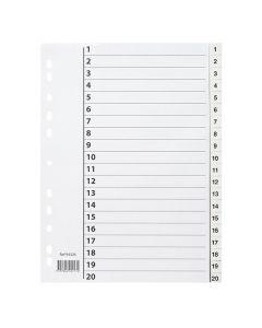 Plastregister A4 1-20 vit