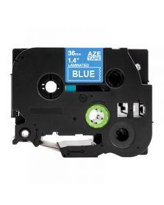 Tape 36mm TZe-565 Vit på Blå