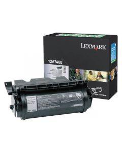 Toner LEXMARK 12A7460 svart