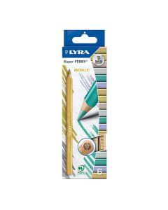 Färgp. LYRA Super Ferby Metalic 6 färger