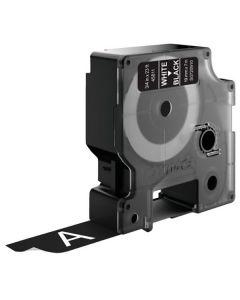 Tape D1 19mm Vit på Svart