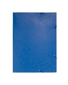 Gummibandsmapp 3-klaff 600g A3 blå