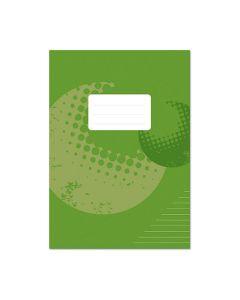 Skrivhäfte A4 olinj/linj. 8,5mm grön