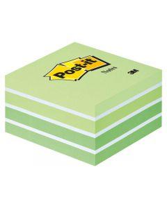 Notes POST-IT Kub 76x76mm grön/vit