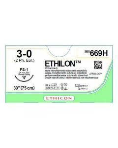 Sutur Ethilon 3-0 FS-1 75cm 36/FP