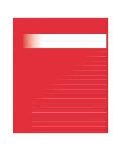 Skrivhäfte 17x21cm linj. 8,5mm röd