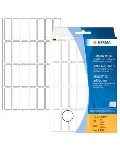 Etikett HERMA Allround 13x40mm vit 896/FP
