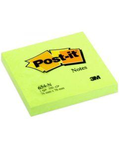 Notes POST-IT neon 76x76mm grön
