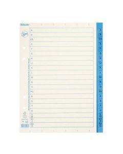 Pappersregister JOPA A5 A-Ö vit/blå