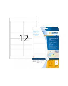 Etikett HERMA Transp 97x42,3mm 300/FP