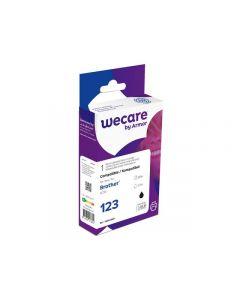 Bläckpatron WECARE BROTHER LC123Bk Svart