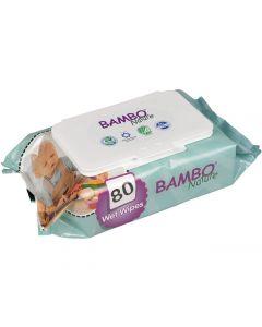 Våtservett BAMBO Nature oparfymerad 80/FP