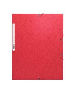 Gummibandsmapp Scotten A4 3-klaff röd