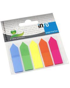 Indexpilar INFO NOTES 12x44mm 5 färger