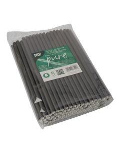 Sugrör PURE papper 8mmx21cm svart 100/FP