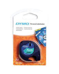 Tape DYMO LetraTag 12mm Svart på Grön