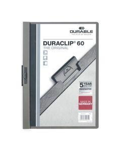 Klämmapp Duraclip 2209 A4 6mm m.grå