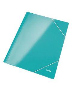Gummibandsmapp LEITZ WOW 3-kl A4 isblå