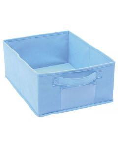Förvaringskorg i tyg, blå.