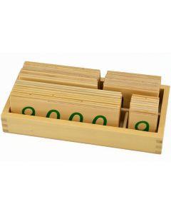 Sifferkort av trä