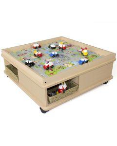 Lekbord med förvaring 83x83x32cm
