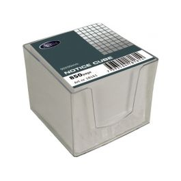 Blockkub inkl. hållare vitt papper